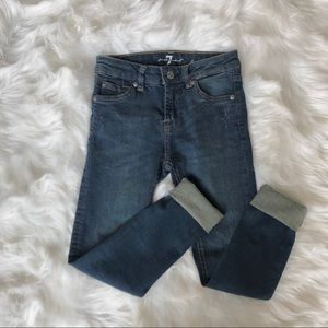 Girls 7 for all mankind skinny jeans
